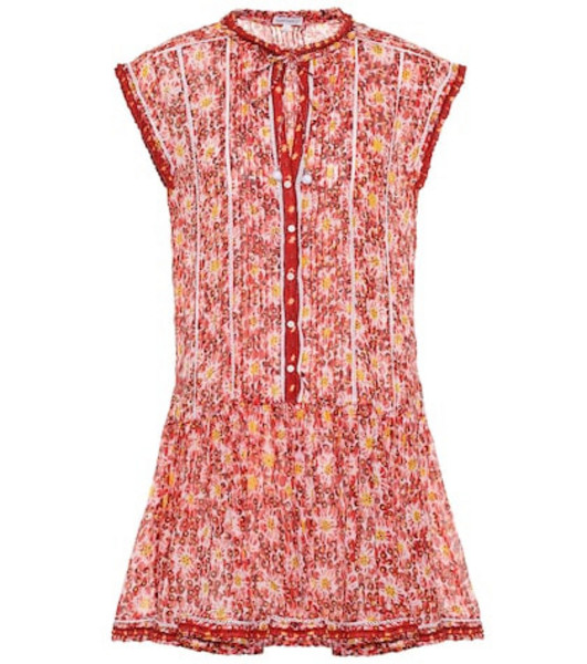Poupette St Barth Exclusive to Mytheresa – Honey printed cotton minidress in red