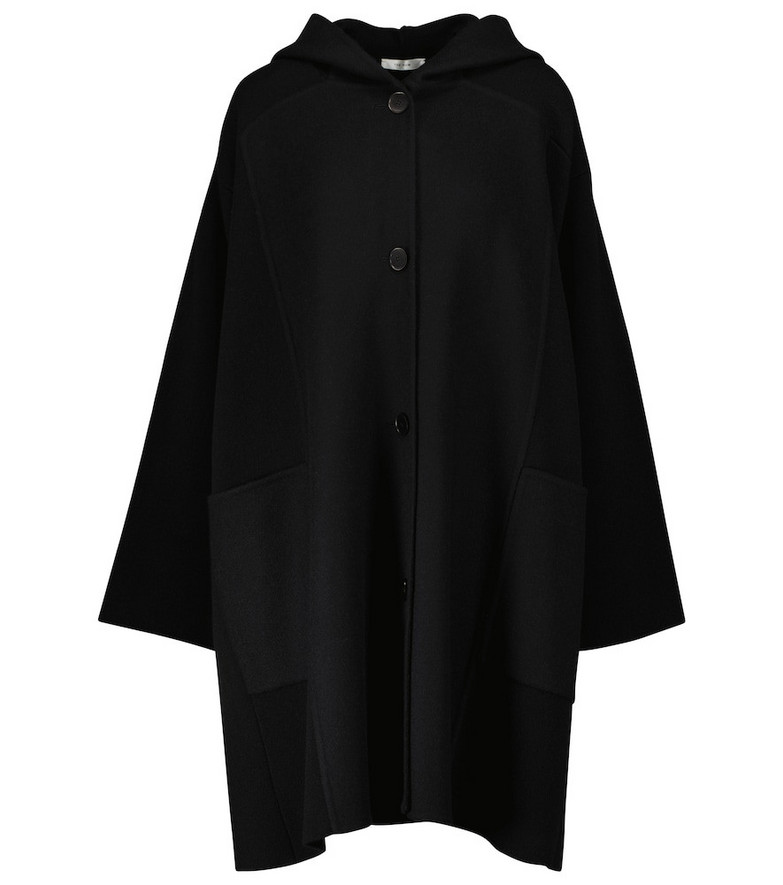 The Row Chester cashmere coat in black