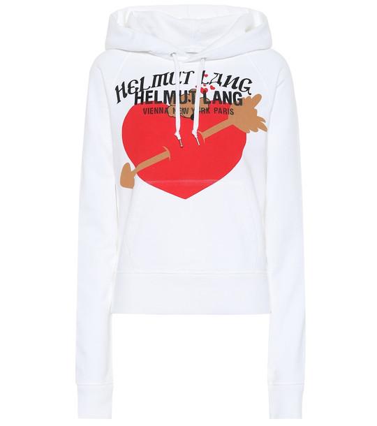 Helmut Lang Valentine cotton hoodie in white
