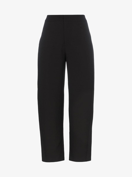 Toteme Novara high waisted cropped trousers in black