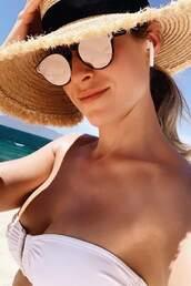 swimwear,bikini top,bikini,white bikini,kristin cavallari,instagram