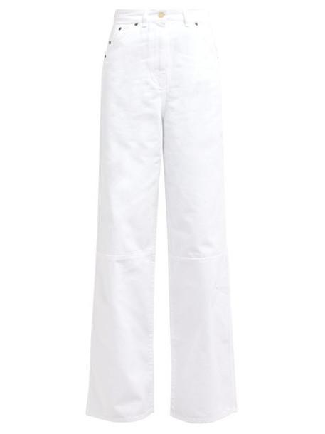Jacquemus - Prago Wide Leg Cotton Jeans - Womens - White