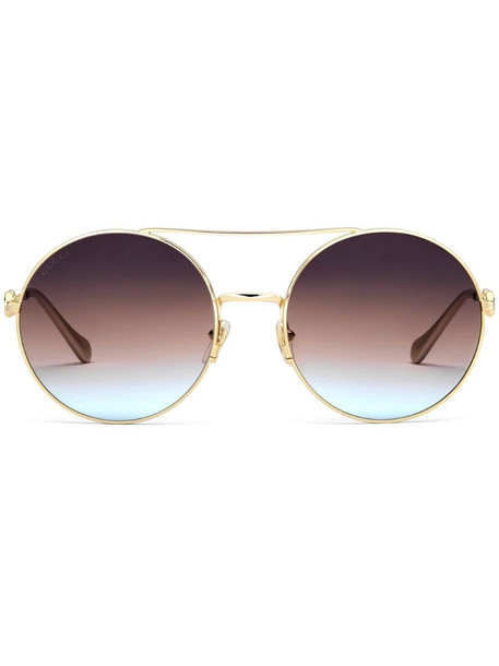 Gucci Eyewear 648492I3330 round-frame sunglasses in gold