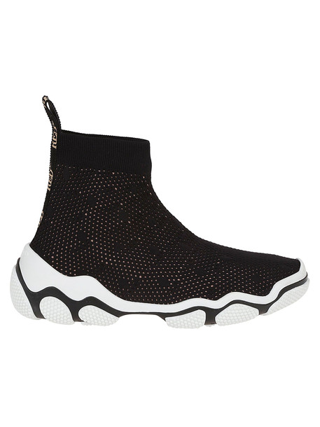 Red Valentino Glam Run Slip-on Sneakers in nero