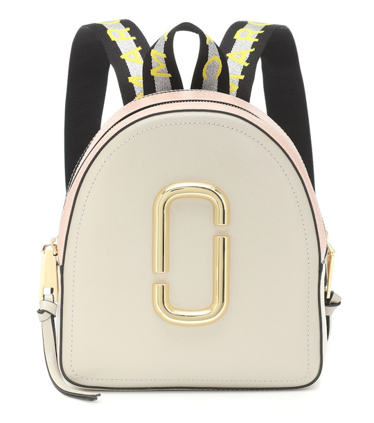 Marc Jacobs Pack Shot leather backpack in beige