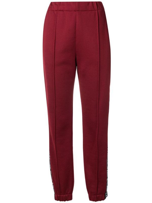 T By Alexander Wang logo track pants in red