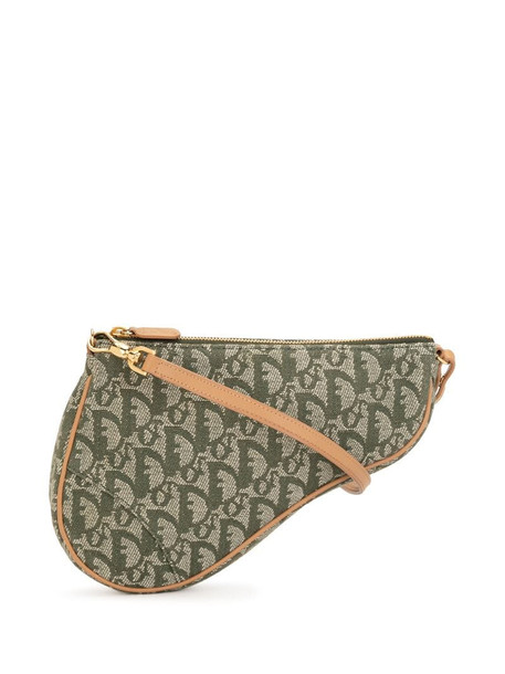 Christian Dior pre-owned Trotter Saddle tote bag in green