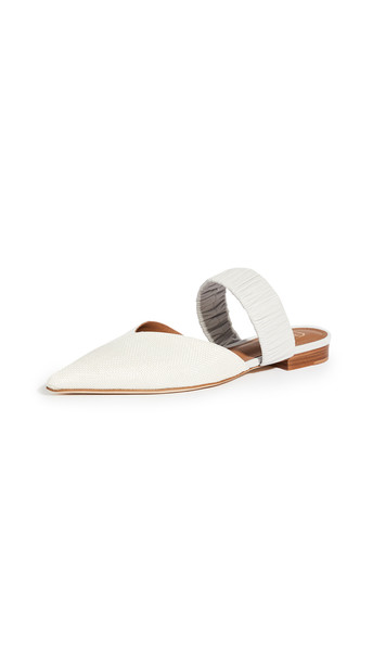 Malone Souliers Matilda Flats in grey / white