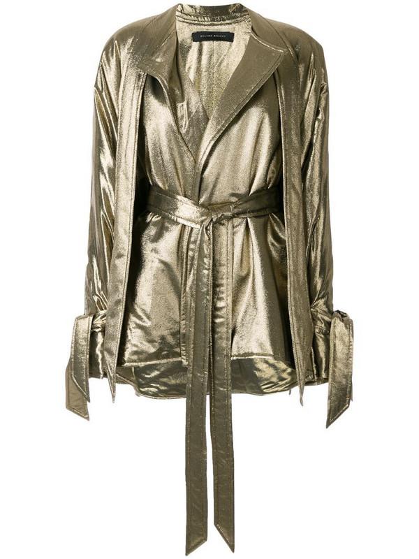 Roland Mouret Albertin lurex jacket in gold