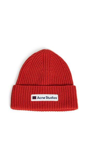 Acne Studios Kansa Face Hat in red