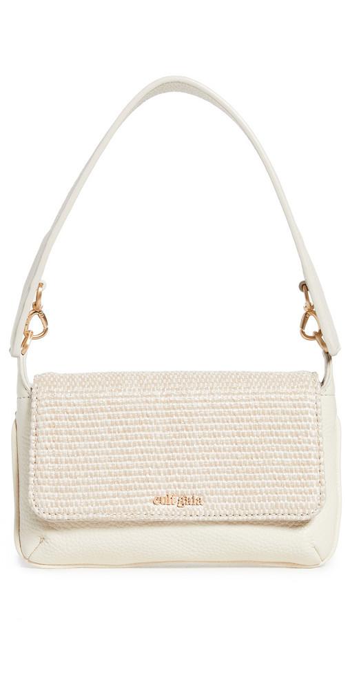 Cult Gaia Damara Shoulder Bag in white