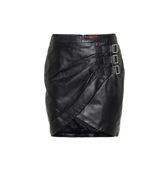 Altuzarra Embellished leather miniskirt in black