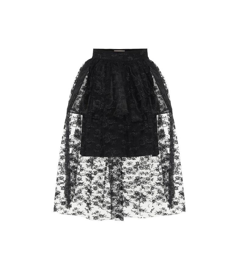 Christopher Kane Lace midi skirt in black