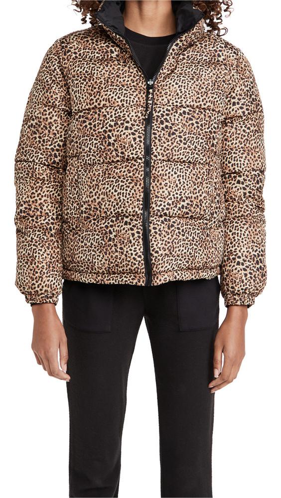 BB Dakota Cool Kitten Reversible Puffer Coat in leopard