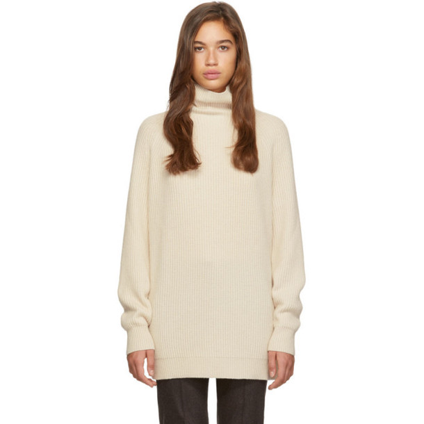 Max Mara Off-White Disco Turtleneck
