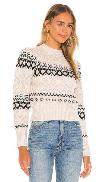 ASTR the Label Maria Sweater in Cream in black / ivory / multi