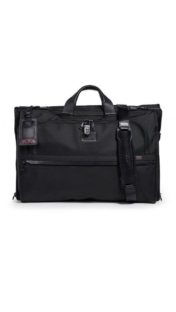 TUMI Alpha Garment Tri Fold Carry On Bag in black