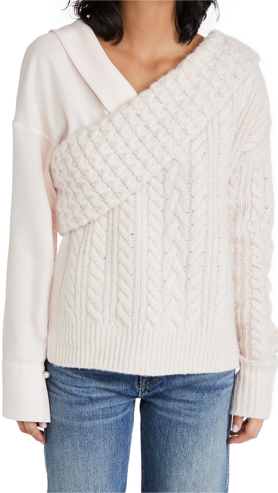 Hellessy Jos Cashmere Sweater in blush
