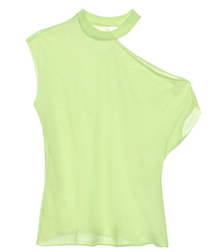 RtA Axel cotton-blend top in green
