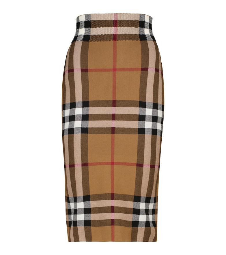 Burberry Vintage Check jacquard knit skirt