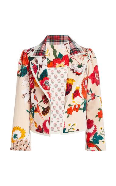 Alix of Bohemia Garden Moto Velvet Jacket in pink