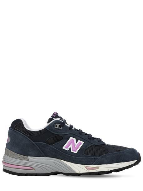 NEW BALANCE 991 Sneakers in navy / purple