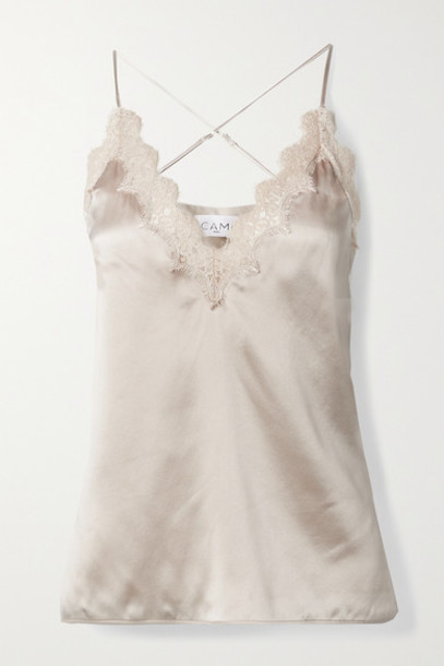 Cami NYC - The Everly Lace-trimmed Silk-charmeuse Camisole - Ivory