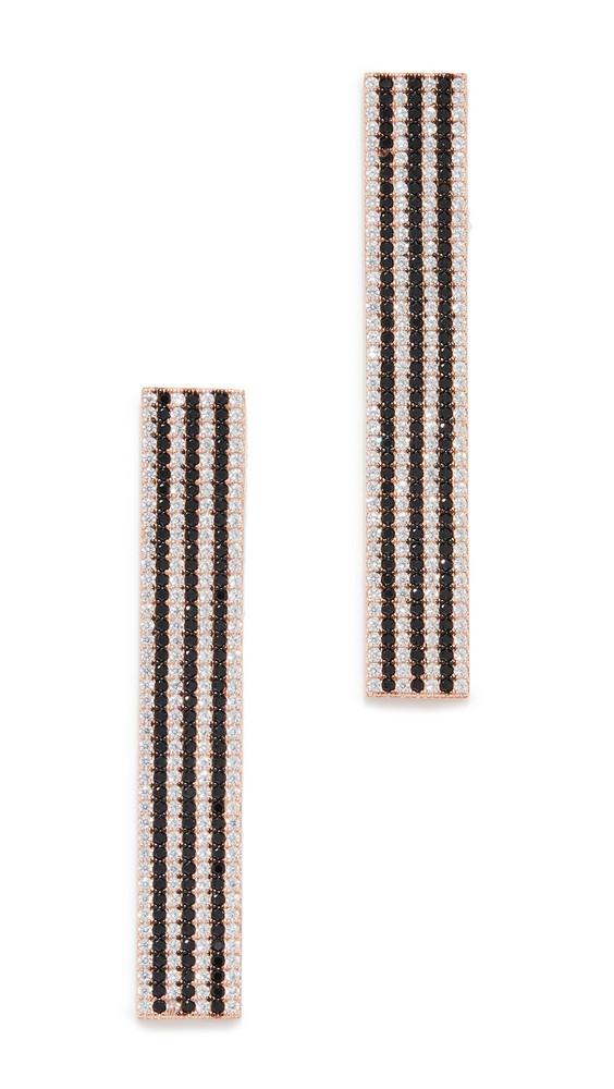 Nickho Rey Bar Earrings in black / gold / rose / white