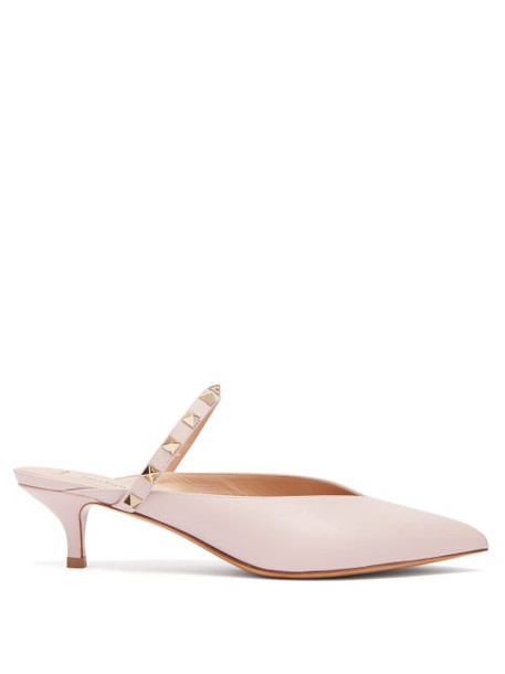 Valentino - Rockstud Hype Leather Mules - Womens - Pink