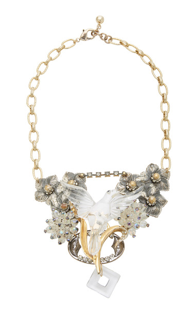 Lulu Frost One-of-a-Kind Gold-Plated Enamel and Crystal Necklace