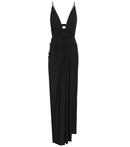 Alexandre Vauthier Stretch-jersey gown in black