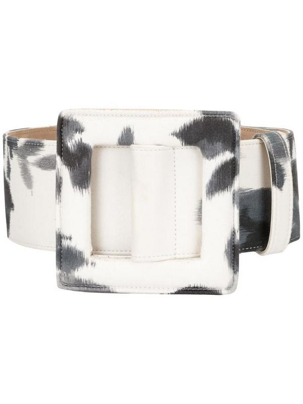 Carolina Herrera tie-dye print belt in white