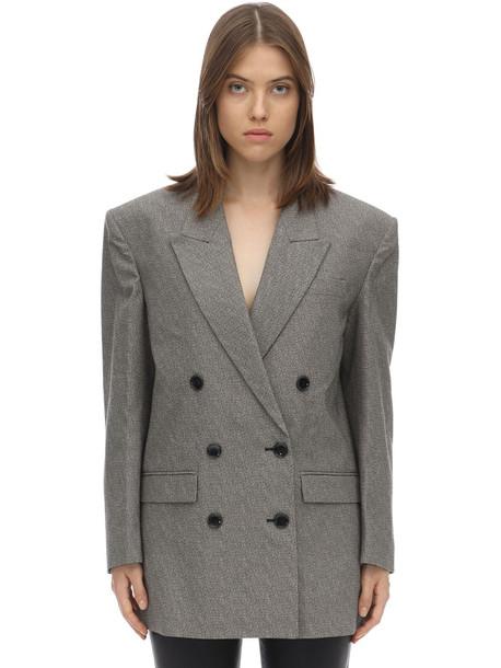 ISABEL MARANT Eladim Oversized Cotton Twill Blazer in grey