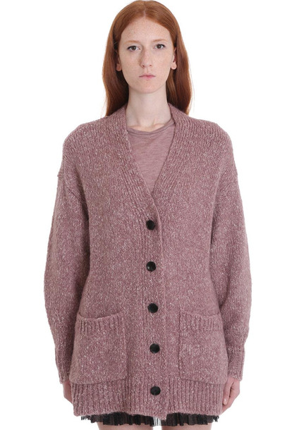 Isabel Marant Étoile Scott Cardigan In Rose-pink Wool