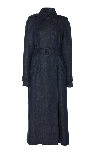 Gabriela Hearst Augustin Belted Linen Trench