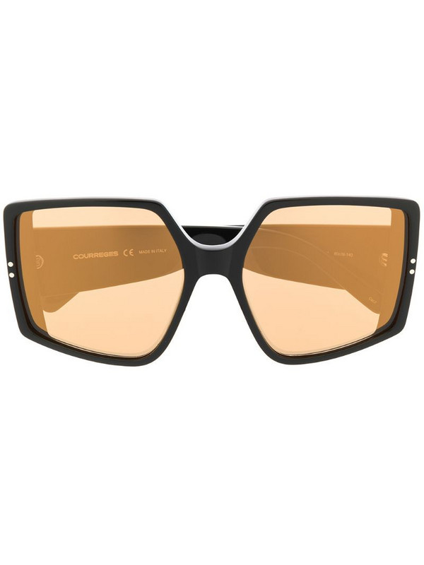 Courrèges Eyewear oversized square sunglasses in black