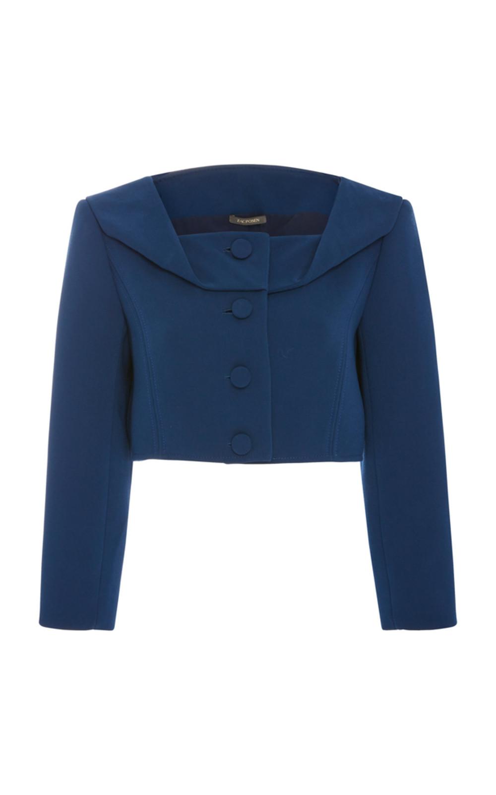Zac Posen Crop Jacket in blue