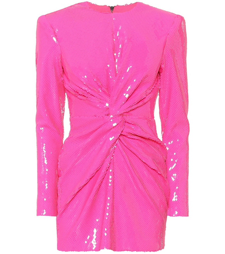 Alex Perry Jade sequined minidress in pink