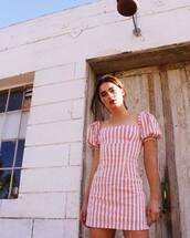 dress,red dress,mini dress,stripes,striped dress