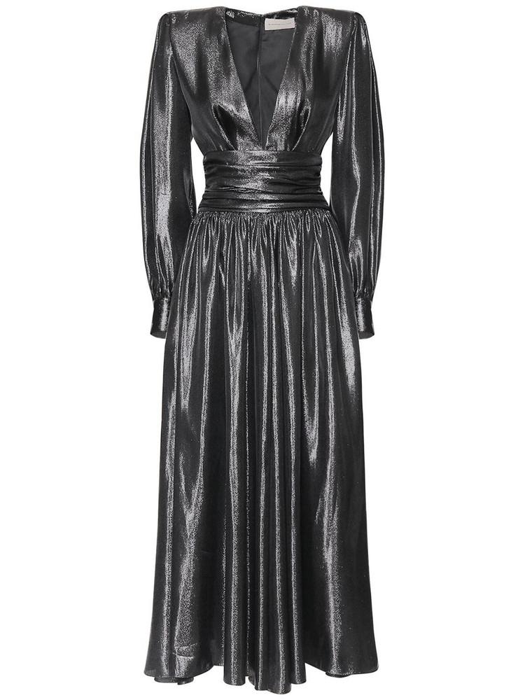 ALEXANDRE VAUTHIER Lamé Couture Long Dress in black