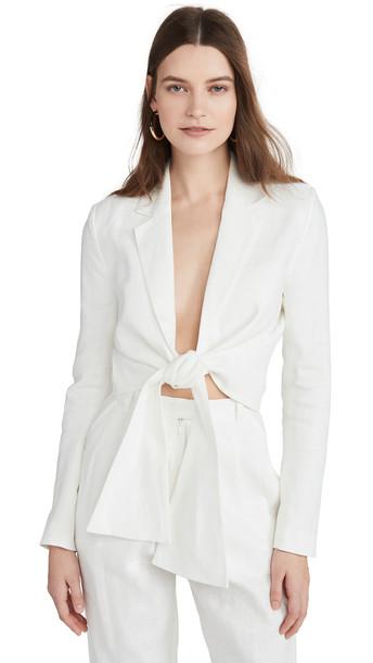 Mara Hoffman Catalina Blouse in white