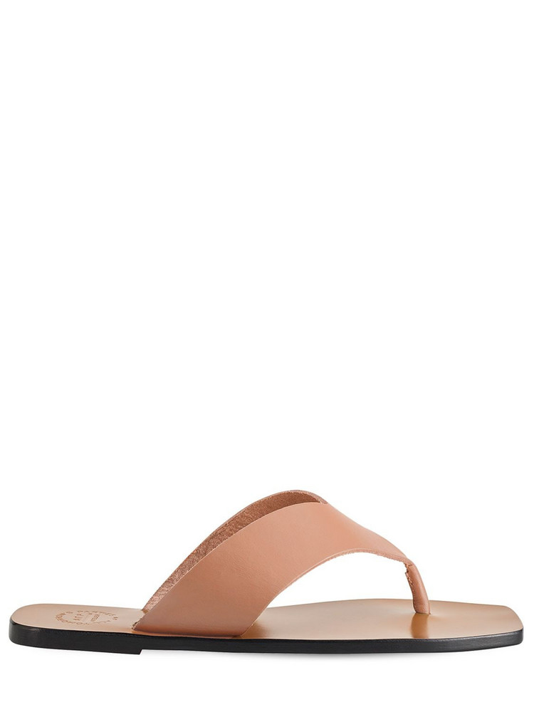 ATP ATELIER 10mm Merine Leather Thong Sandals in tan