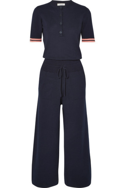 Chinti and Parker - Day Dreamer Cotton Jumpsuit - Navy