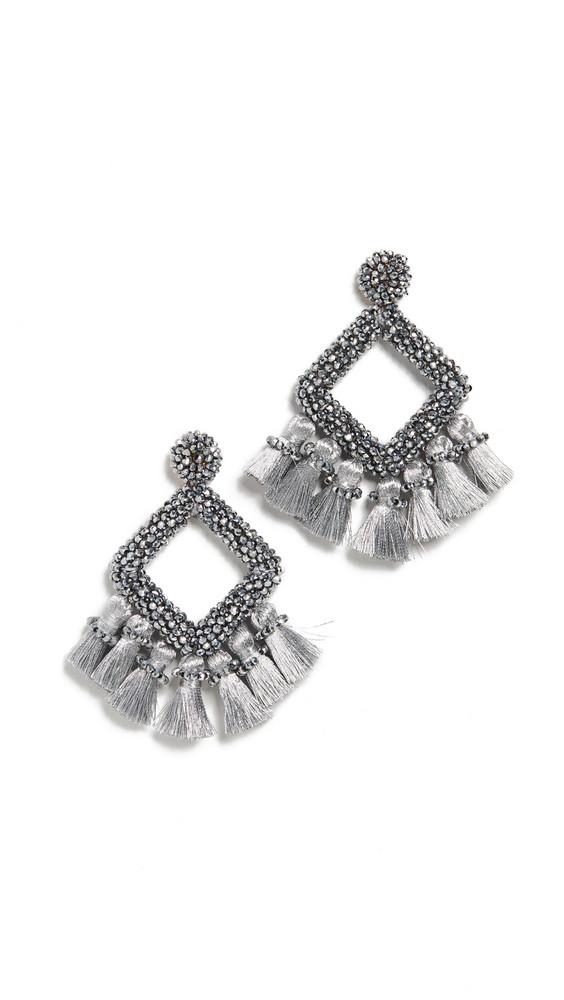 BaubleBar Gem Laniyah Drop Earrings in gold / silver