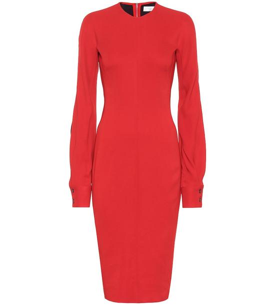 Victoria Beckham Crêpe dress in red