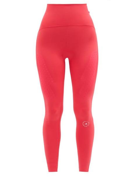 Adidas By Stella Mccartney - Truepurpose High-rise Jersey Leggings - Womens - Dark Pink