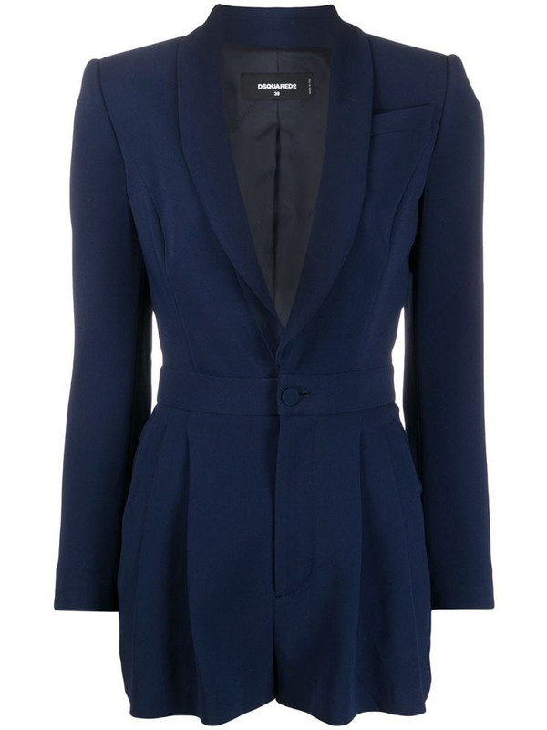 Dsquared2 fitted blazer playsuit in blue