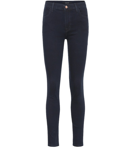 J Brand Maria high-rise skinny jeans in blue