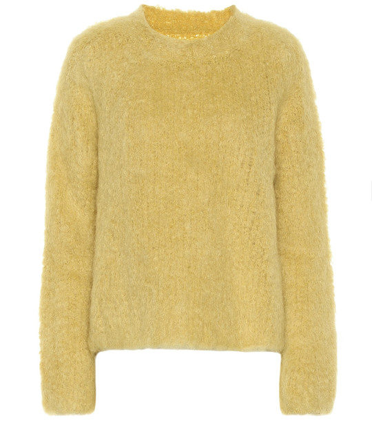 Maison Margiela Wool and mohair sweater in yellow