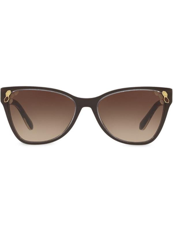 Bvlgari Top Transparent cat-eye sunglasses in brown